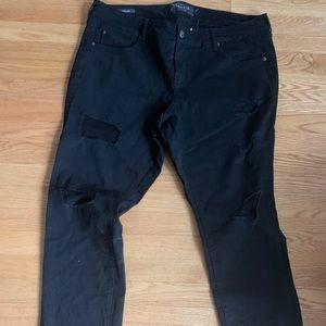 Black torrid boyfriend jeans ripped
